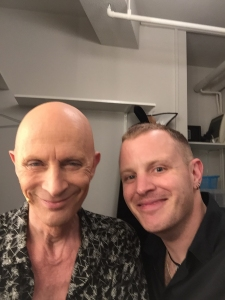 Richard O'Brien and I at the live broadcast of The Rocky Horror Picture Show