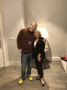 The legendary Elaine Paige and I at the London Palladium